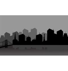 Gray silhouette city vector