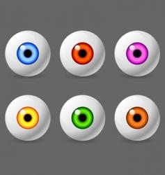 human eyeballs vector image vector image