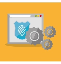Internet security home page finger print vector