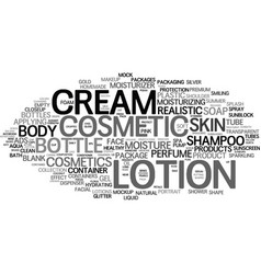 lotion word cloud concept vector image