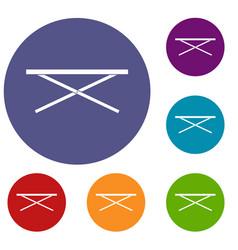 Market counter icons set vector