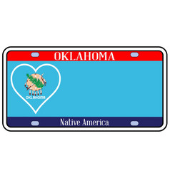 Oklahoma state license plate vector