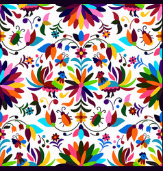 Otomi style seamless pattern vector
