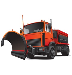 snowplough truck vector image vector image