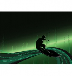 Surfing the web vector