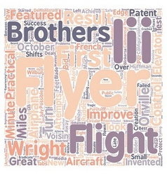The first practical airplane text background vector