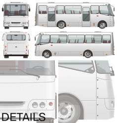 urban passenger mini-bus vector image