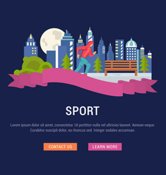 Website banner and landing page sport vector