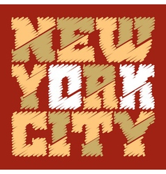 T shirt drown typography graphics new york vector