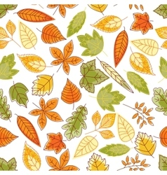 Autumn leaves seamless pattern for nature design vector image