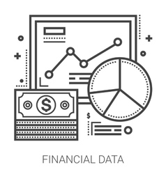 Financial data line icons vector