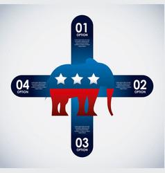 Republican party elephant usa icon vector