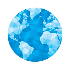 Abstract geometric globe - vector