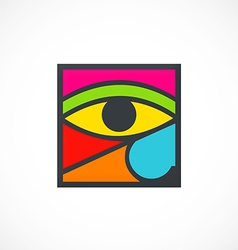 eye decoration abstract logo vector image