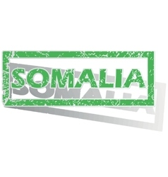 Green outlined somalia stamp vector