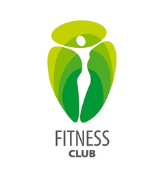 Green abstract logo for fitness club vector