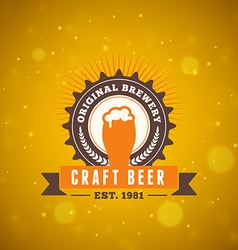 Retro vintage beer logotype design element vector