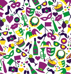 Bright carnival icons seamless pattern vector