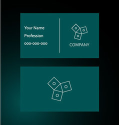 Integrate - business card vector