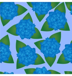 Seamless pattern of blue flowers vector