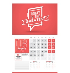 Wall calendar planner print template for 2017 year vector