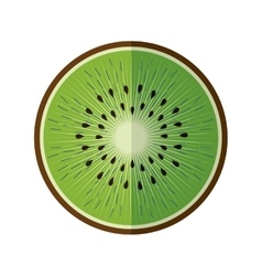 Healthy and organic food fruit icon vector