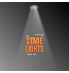 Transparent studio stage light effect vector
