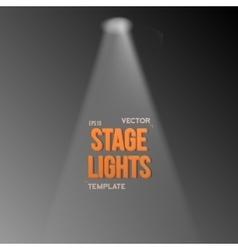 Transparent studio stage light effect vector