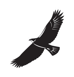 American eagle flying woodcut vector