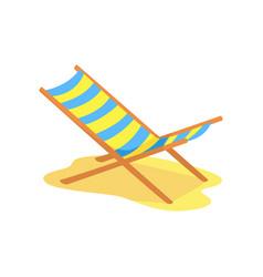 Beach chaise longue cartoon vector