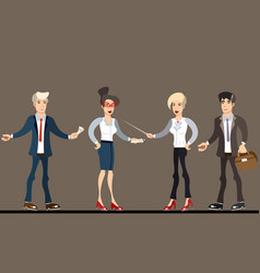 business people teamwork vector image