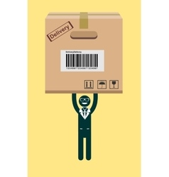 Businessman holding a package vector image vector image