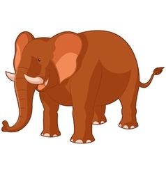 Cartoon smiling elephant vector image vector image