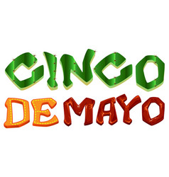 Cinco de mayo lettering text for greeting card vector