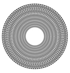 circle tire track vector image vector image