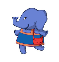Elephant in dress vector