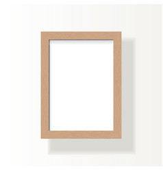Empty wooden frame for a4 image photo or text vector
