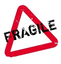 Fragile rubber stamp vector