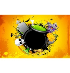 Halloween Cauldron vector image vector image