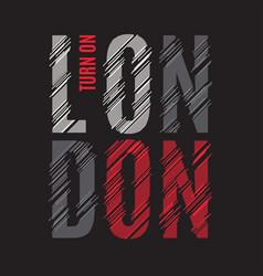 london tee print t-shirt design graphics stamp vector image