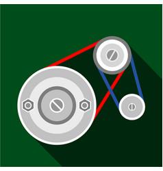 Mechanic belt icon flat style vector