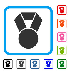 medal framed icon vector image vector image