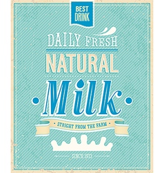 Natural milk vector