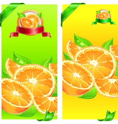orange juice flyer design vector image vector image