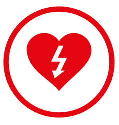 power love heart rounded icon vector image