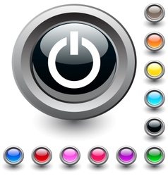 Power round button vector