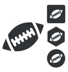 Rugby icon set monochrome vector