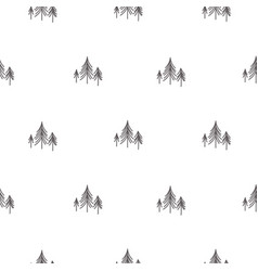 Scandinavian simple forest tree on white vector