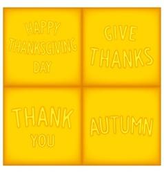 Set lettering designs for gratitude vector image