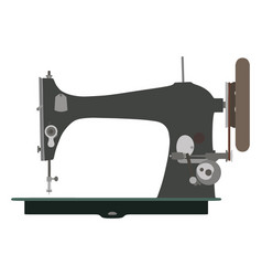 Sewing machine vintage icon tailor old fashion vector